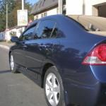 Honda Civic после восстановительной полировки кузова